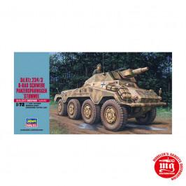 Sd Kfz 234/3 8 RAD SCHWERE PANZERSPAHWAGEN  STUMMEL GERMAN ARMY  ARMOURED PATROL CAR HASEGAWA 31154