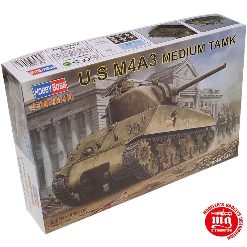 US M4A3 MEDIUM TANK HOBBYBOSS 84803 ESCALA 1:48