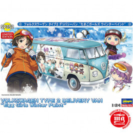 VOLKSWAGEN TYPE 2 DELIVERY VAN EGG GIRLS WINTER PAINT HASEGAWA 52152