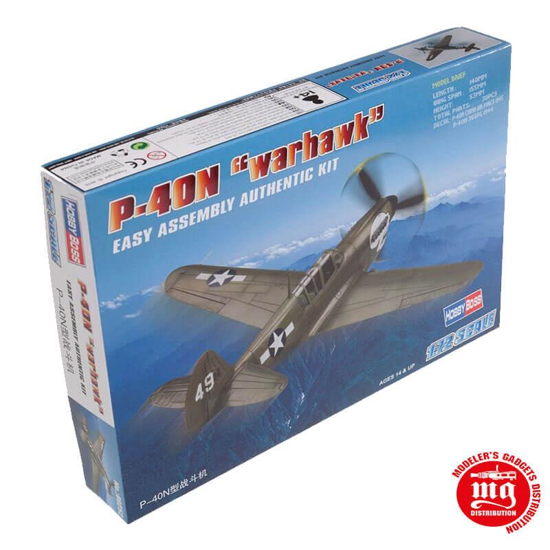 P-40N WARHAWK EASY ASSEMBLY AUTHENTIC KIT HOBBYBOSS 80252