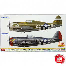 P-47D THUNDERBOLT RAZORBACK BUBBLETOP OPERATION OVERLORD LIMITED EDITION DOUBLE COMBO HASEGAWA 02099