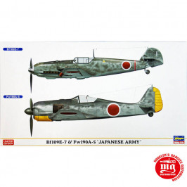 Bf 109E-7 AND Fw 190A-5 JAPANESE ARMY LIMITED EDITION HASEGAWA 02014