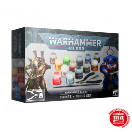 WARHAMMER 40000 PAINTS WITH TOOLS SET CITADEL 60-12