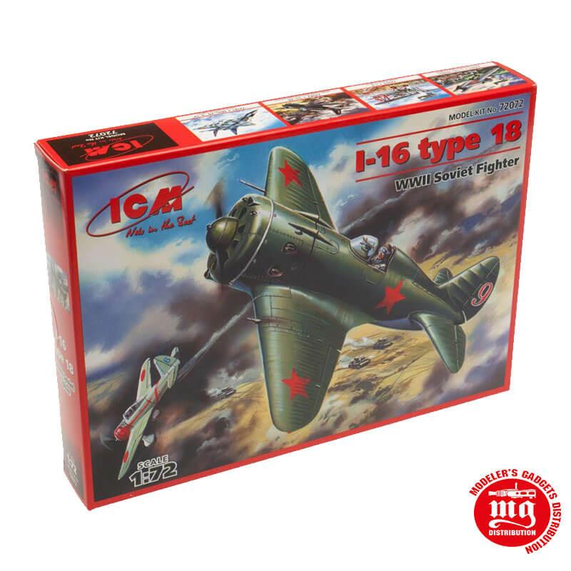 I-16 TYPE 18 WWII SOVIET FIGHTER ICM 72072
