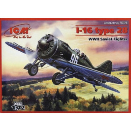 I-16 TYPE 28 WWII SOVIET FIGHTER ICM 72073