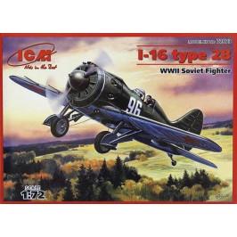 I-16 TYPE 28 WWII SOVIET FIGHTER ICM 72073