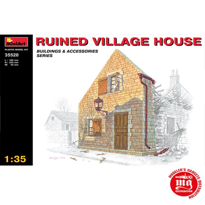 RUINED VILLAGE HOUSE MINIART 35520