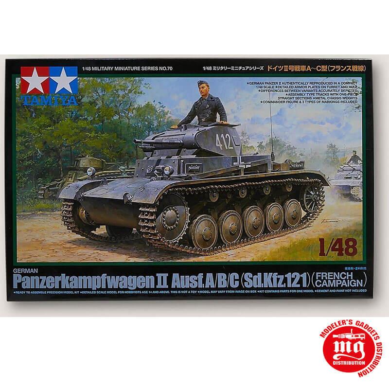 GERMAN PANZERKAMPFWAGEN II AUSF.A/B/C SD.KFZ.121 FRENCH CAMPAIGN TAMIYA 32570 ESCALA 1:48
