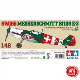 SWISS MESSERSCHMITT Bf109 E-3 TAMIYA 25200
