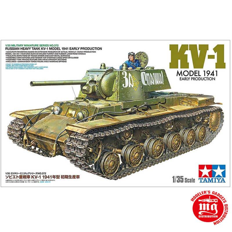 RUSSIAN HEAVY TANK KV-1 MODEL 1941 EARLY PRODUCTION TAMIYA 35372 ESCALA 1:35