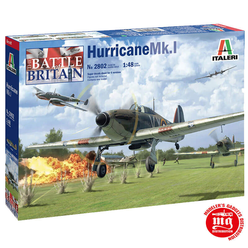 HAWKER HURRICANE Mk.I BATTLE OF BRITAIN 80th ANNIVERSARY WITH SUPER DECAL ITALERI 2802