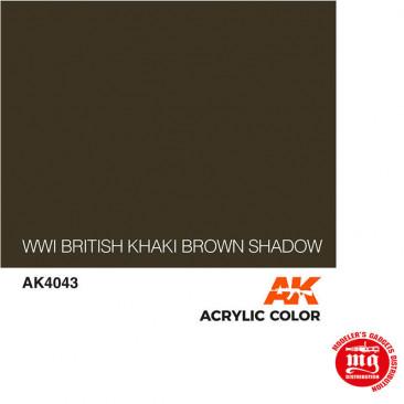 WWI BRITISH KHAKI BROWN SHADOW AK4043
