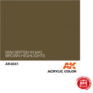 WWI BRITISH KHAKI BROWN HIGHLIGHT AK4041