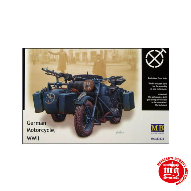 GERMAN MOTORCYCLE WWII MASTER BOX MB3528