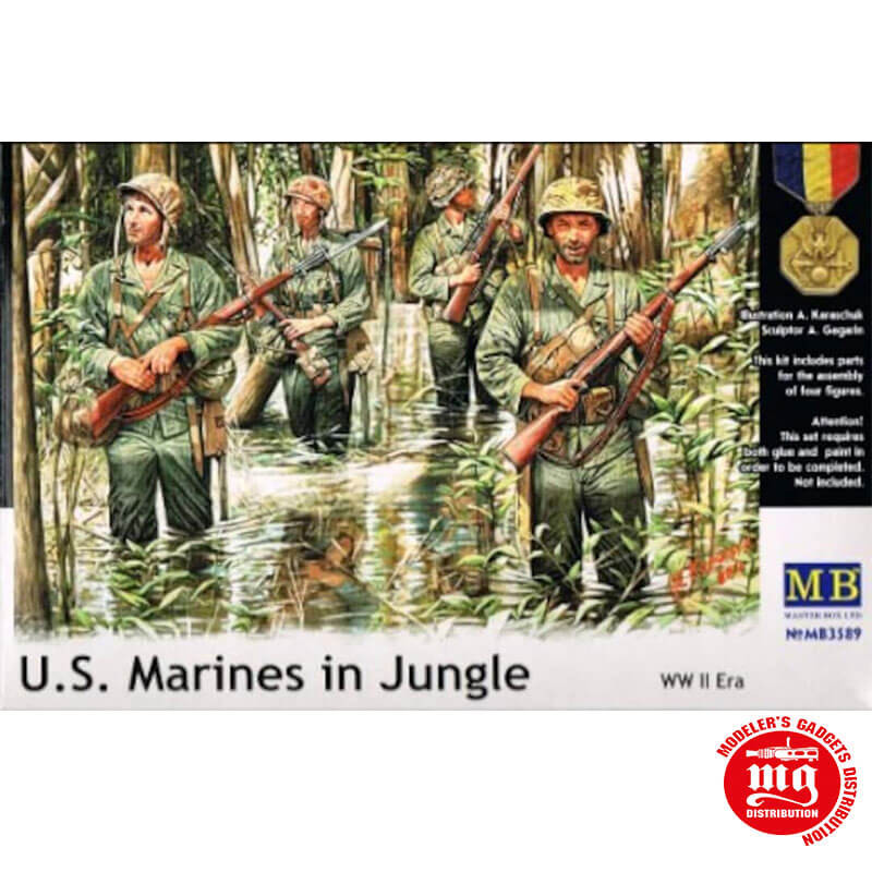 US  MARINES IN JUNGLE MASTER BOX MB3589