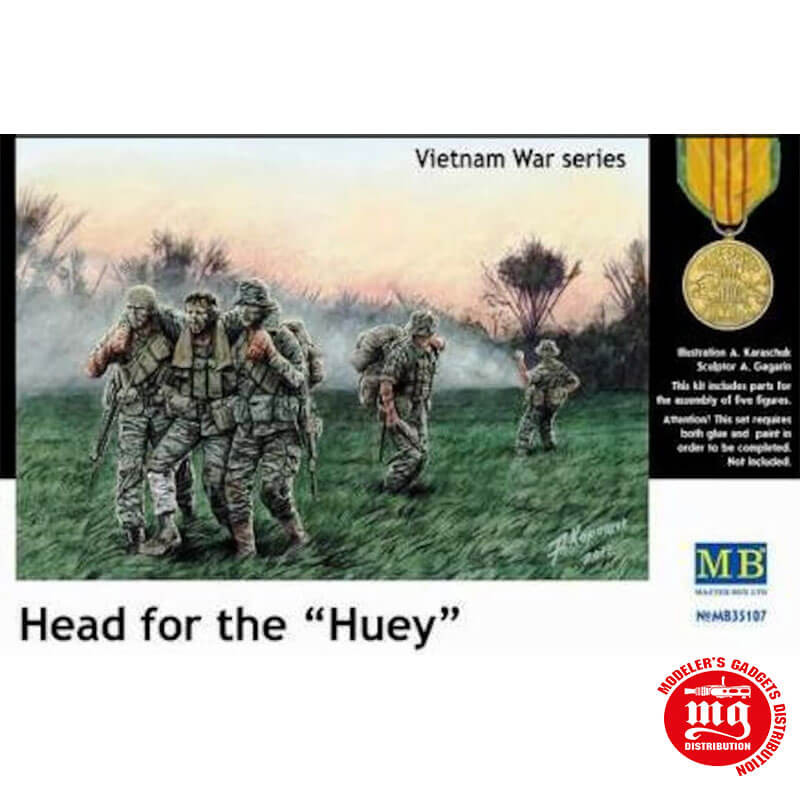 HEAD FOR THE HUEY VIETNAM WAR SERIES MASTER BOX MB35107