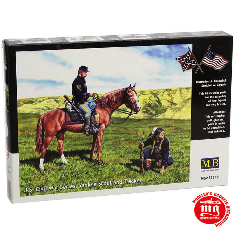 YANKEE SCOUT AND TRACKER US CIVIL WAR SERIES MASTER BOX MB3549