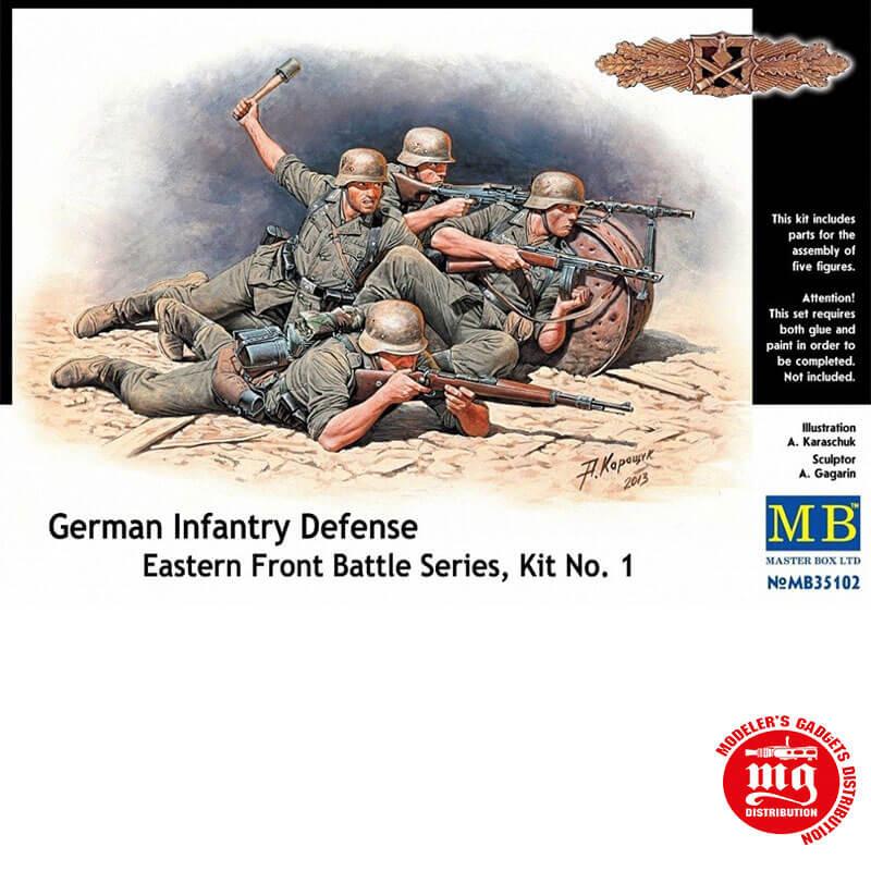 GERMAN INFANTRY DEFENSE EASTERN FRONT BATTLE SERIES KIT 1 MASTER BOX MB35102