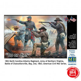 CONFEDERATE INFANTRY DO OR DIE! AMERICAN CIVIL WAR 1861-1865 MASTER BOX MB3581