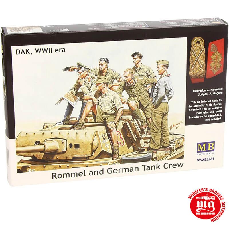 ROMMEL AND GERMAN TANK CREW DAK WWII MASTER BOX MB3561