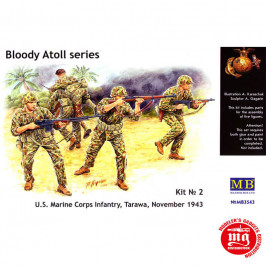BLOODY ATOLL SERIES US MARINE CORPS INFANTRY TARAWA NOVEMBER 1943 KIT 2 MASTER BOX MB3543