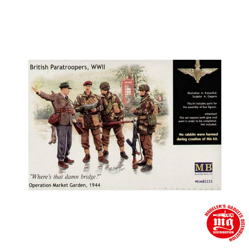 BRITISH PARATROOPERS WWII WHERE IS THAT DAMN BRIDGE OPERATION MARKET GARDEN 1944 MASTER BOX MB3533