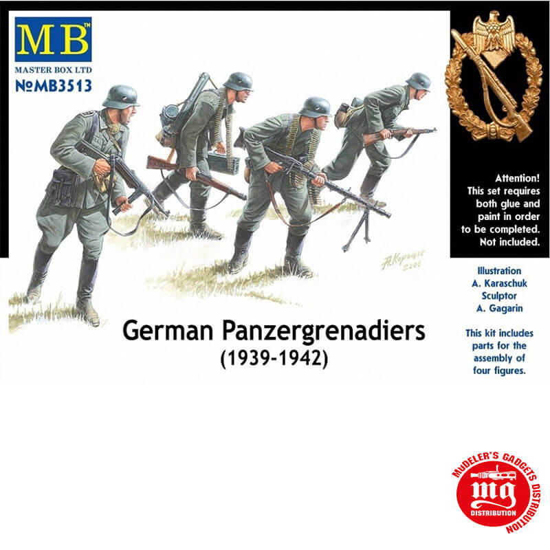 GERMAN PANZERGRENADIERS 1939-1942 MASTER BOX MB3513