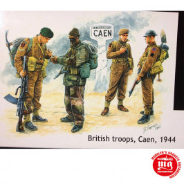 BRITISH TROOPS CAEN 1944 MASTER BOX MB3512