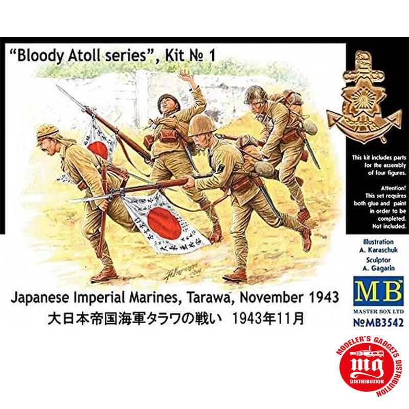 BLOODY ATOLL SERIES KIT 1 JAPANESE IMPERIAL MARINES TARAWA NOVEMBER 1943 MASTER BOX MB3542