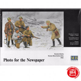 PHOTO FOR THE NEWSPAPER RUSSIAN INFANTRY KORSUN SHEVCHENKOVSKIY 1944 MASTER BOX MB3529