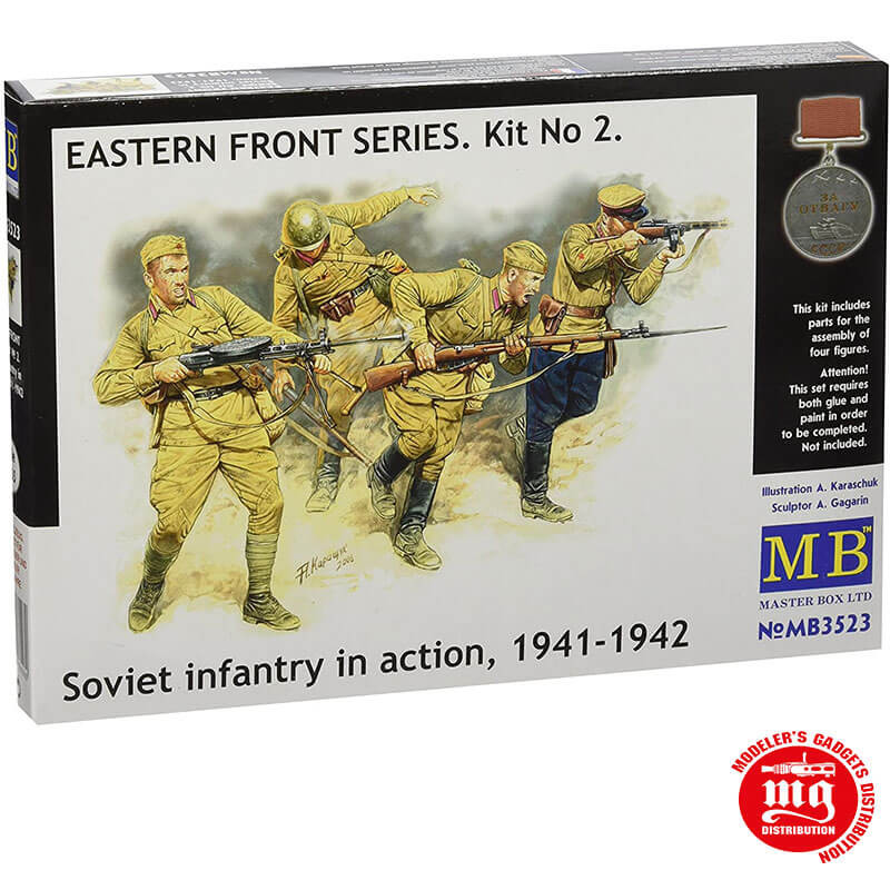 SOVIET INFANTRY IN ACTION 1941-1942 EASTERN FRONT SERIES KIT 2 MASTER BOX MB3523