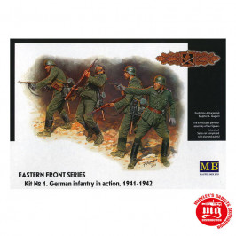 EASTERN FRONT SERIES KIT 1 GERMAN INFANTRY IN ACTION 1941-1942 MASTER BOX MB3522