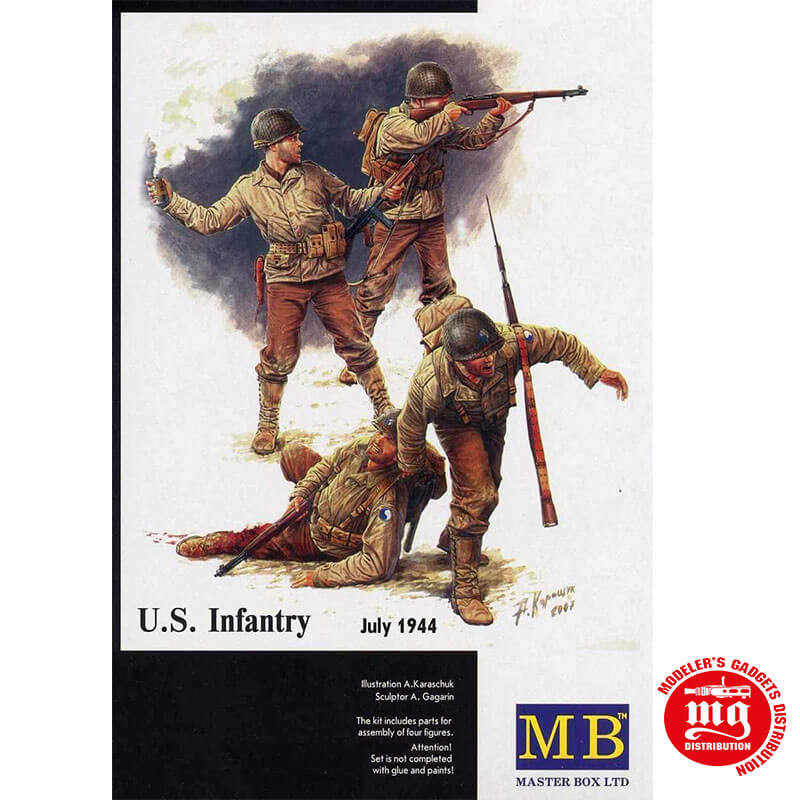 US INFANTRY JULY 1944 MASTER BOX MB3521