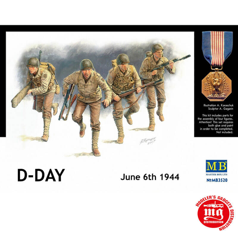 D DAY JUNE 6th 1944 MASTER BOX MB3520