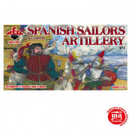 SPANISH SAILORS ARTILLERY RED BOX RB72104
