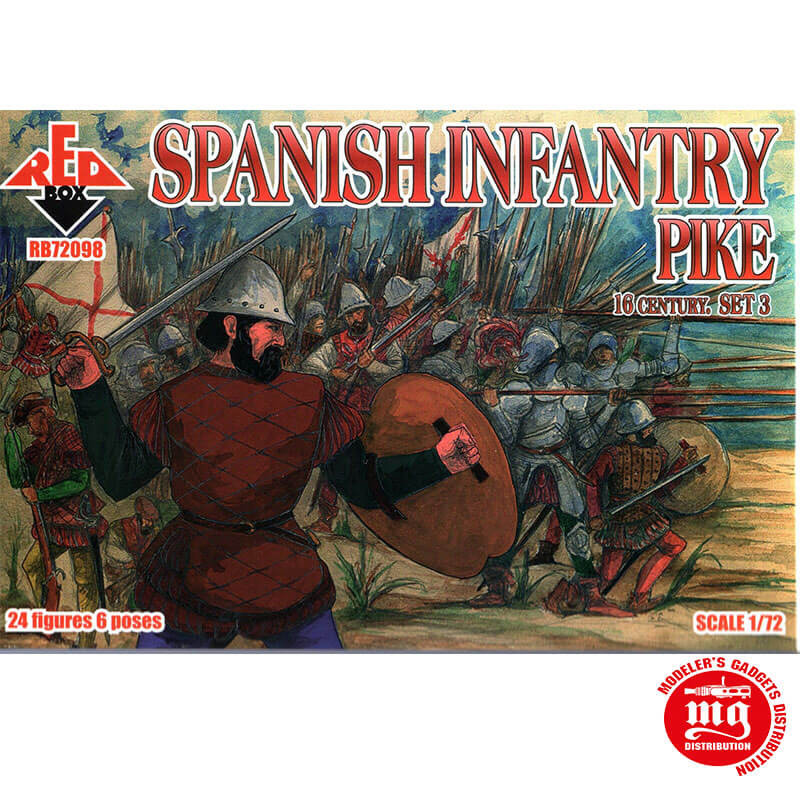 SPANISH INFANTRY PIKE RED BOX RB72098