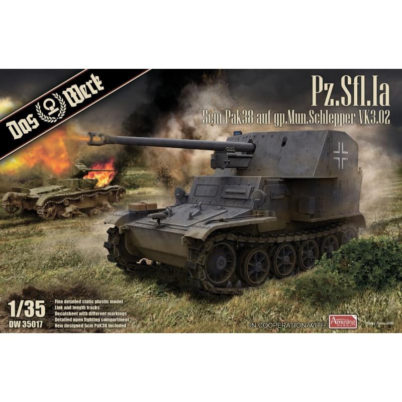 Pz.Sfl.Ia 5cm Pak 38 auf gp.Mun.Schlepper VK3.02 DAS WERK DW 35017