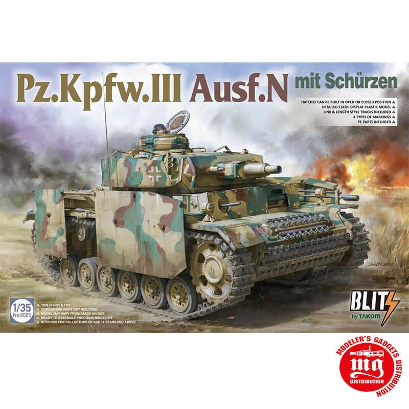 Pz.Kpfw.III Ausf.N MIT SCHURZEN TAKOM 8005