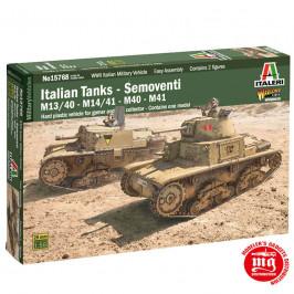 ITALIAN TANKS SEMOVENTI M13/40 M14/41 M40 M41 ITALERI 15768 ESCALA 1:56