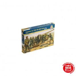 WORLD WARR II ITALIAN CANONE DA 149/40 WITH CREW ITALERI 6165