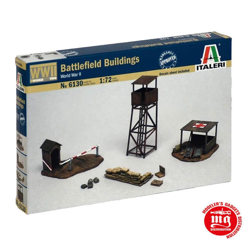 BATTLEFIELD BUILDINGS WORLD WAR II ITALERI 6130