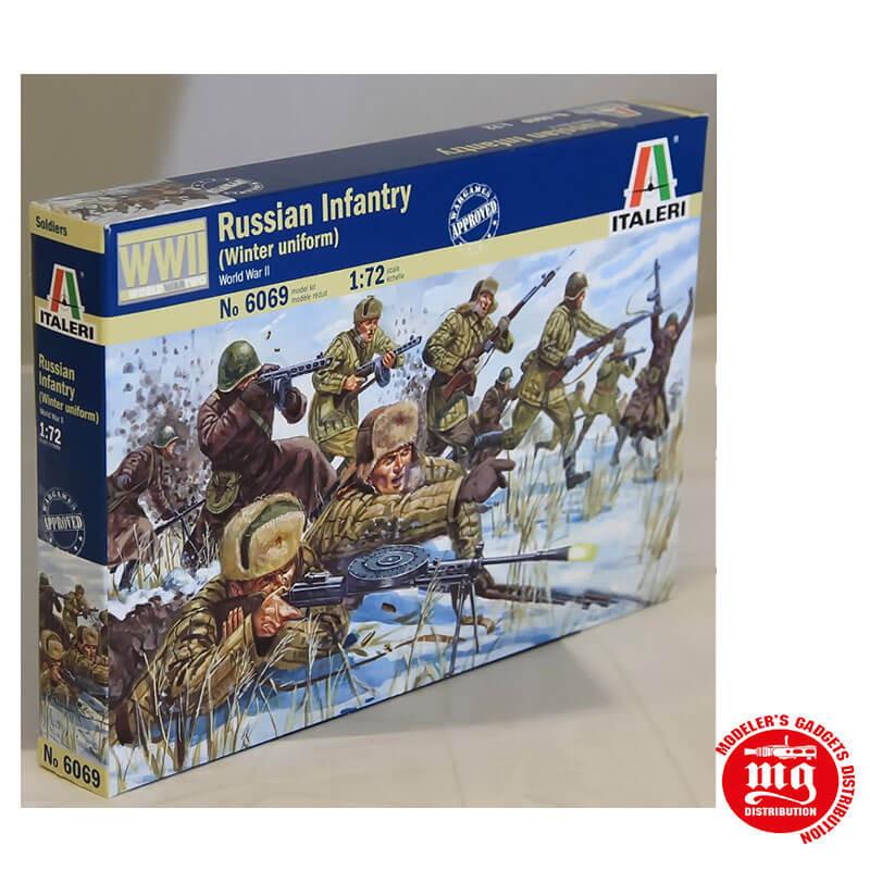RUSSIAN INFANTRY WINTER UNIFORM WORLD WAR II ITALERI 6069