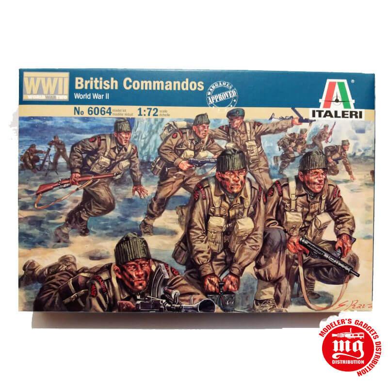 BRITISH COMMANDOS WORLD WAR II ITALERI 6064