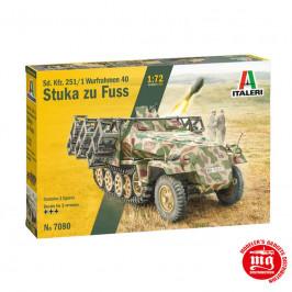 Sd. Kfz. 251/1 WURFRAHMEN 40 STUKA zu FUSS ITALERI 7080