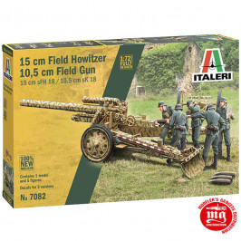15 cm FIELD HOWITZER 10.5 cm FIELD GUN ITALERI 7082