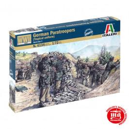 GERMAN PARATROOPERS TROPICAL UNIFORM WORLD WAR II ITALERI 6134