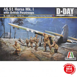 AS.51 HORSA Mk.I WITH BRITISH PARATROOPS ITALERI 1356