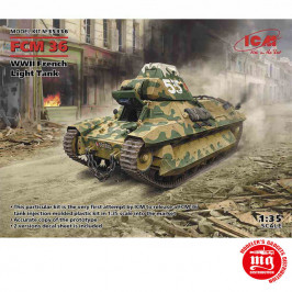 WWII FRENCH LIGHT TANK FCM36 ICM 35336