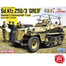 Sd.Kfz.250/3 GREIF ROMMEL´S COMMAND HALF TRACK Sd.Kfz.250/Z CHASSIS FULL INTERIOR DRAGON 6911