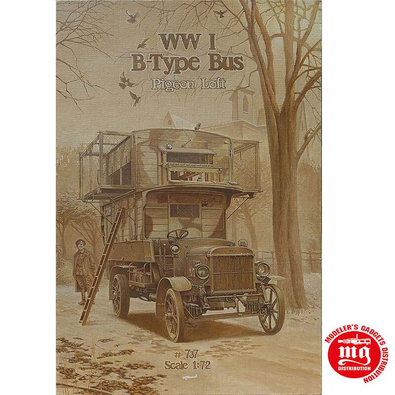 TYPE B BUS PIGEON LOFT WORLD WAR I RODEN 737
